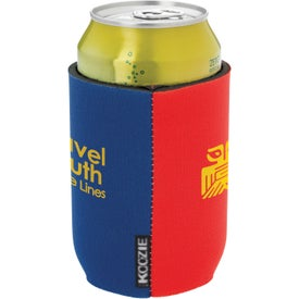 Monogrammed Dual Color Koozie Can Kooler