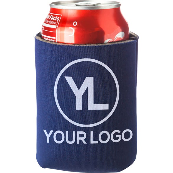 Navy Blue Folding Can Cooler Sleeve