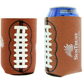 Advertising Football Can Cooler