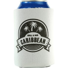 Logo Kan-Tastic Can Cooler with 3 Imprint Locations