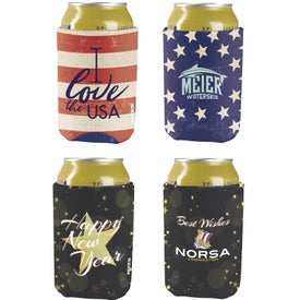 Koozie britePix Holiday Can Kooler