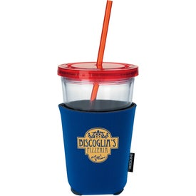 Life's a Party Koozie Cup Kooler with Your Slogan