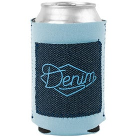 Little Buddy Koozie with Denim-Neoprene Pocket