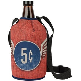 Neoprene Growler Cover with Strap (Four Color Process)
