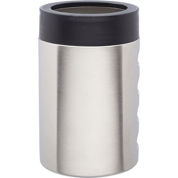 Silver Stainless Steel Can Holder with Lid