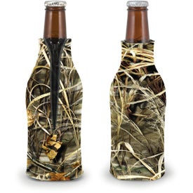 Custom Trademark Camo Zippered Bottle Coolie
