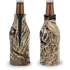 Monogrammed Trademark Camo Zippered Bottle Coolie