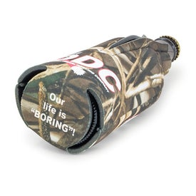Branded Trademark Camo Zippered Bottle Coolie