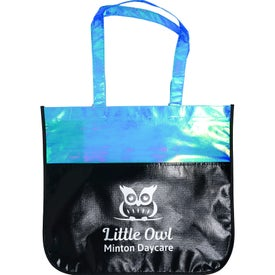 Extra Large Laminated Iridescent Shopping Tote Bags