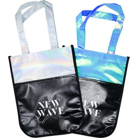 Laminated Iridescent Fashion Tote Bags