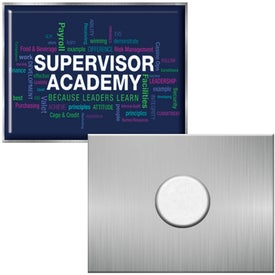 Rectangle Lapel Pins with Standard Magnet (Full Color Logo)