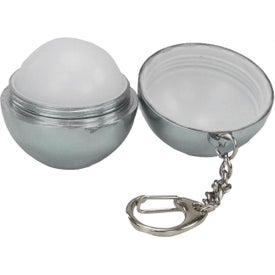 Metallic Ball Lip Balm Claw Keychains