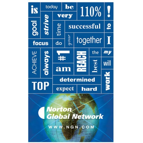 Full Color Imprint Message Magnet with 30 Words