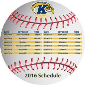 "Baseball Schedule Magnet (0.02"" Thick)"