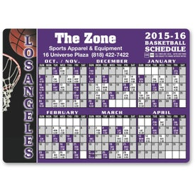 """Basketball Schedule Magnet (0.02"""" Thick, 5.75"""" x 4.125"""")"""