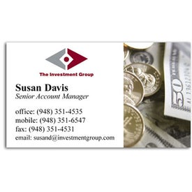 Monogrammed Business Card Magnet