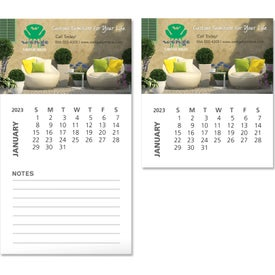 "Business Card Magnet with Calendar (0.03"" Thick, 2020)"