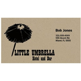 Business Card Recycled Paper Magnet