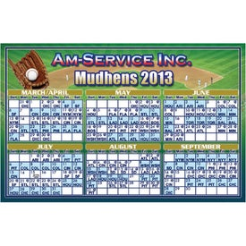 Large Rectangle Calendar Magnet for Advertising