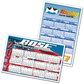 "Large Rectangle Calendar Magnet (0.025"" Thick, 2020)"