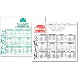 Monogrammed Calendar Magnet