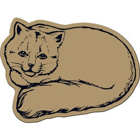 Monogrammed Cat Flexible Magnet