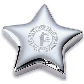 Chrome Plated Metal Star Magnet