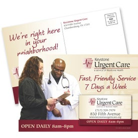 Economy Direct Mail Postcard and Magnet