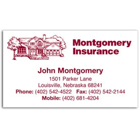 Economy Business Card Magnet for Your Company