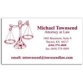 Company Economy Business Card Magnet