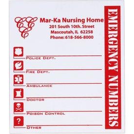 Promotional Emergency Magnet