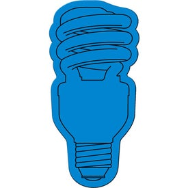 Energy Saver Light Bulb Flexible Magnet with Your Slogan
