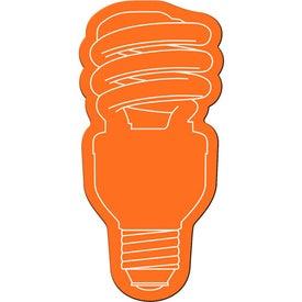 Energy Saver Light Bulb Flexible Magnet Branded with Your Logo