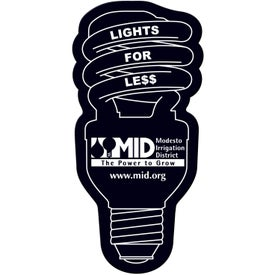 Energy Saver Light Bulb Flexible Magnet Imprinted with Your Logo