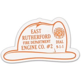 Imprinted Fire Helmet Stock Shape Magnet