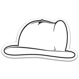 Logo Fire Helmet Stock Shape Magnet