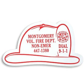 Fire Helmet Stock Shape Magnet
