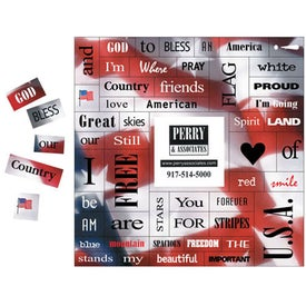 "Flag 49 ""Motivational"" Words Message Magnet"
