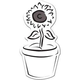 Logo Flower Pot Flexible Magnet