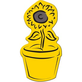 Promotional Flower Pot Flexible Magnet