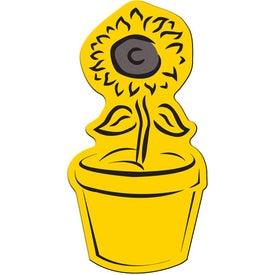 Promotional Flower Pot Flexible Magnet