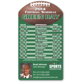 """Football Schedule Magnet (5.75"""" x 3.25"""", .020 Thickness)"""