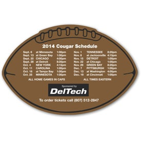 """Football Schedule Magnet (4.25"""" x 6.375"""", .030 Thickness)"""