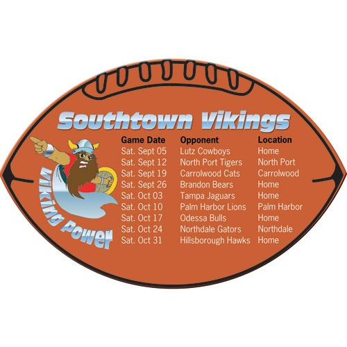 Football Schedules Magnet