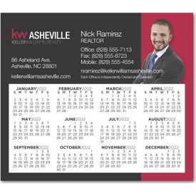 "Square Corners Calendar Magnet (3.4"" x 3.9"", .030 Thickness)"
