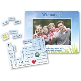 """40 Words Picture Frame Magnet (5.25"""" x 6.75"""", .030 Thickness)"""