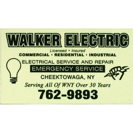 Glow-in-the-Dark Business Card Magnet