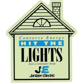 "Glow-in-the-Dark House Magnet (0.025"" Thick)"
