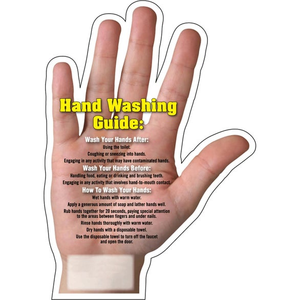 Hand Washing Hand Washing Tips Mega-Mag Shaped Magnet