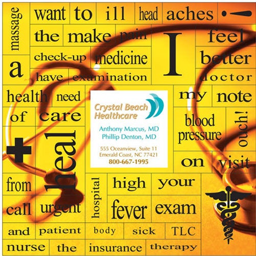 49 Health Words Message Magnet